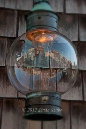 Bearskin Neck Lantern Reflection