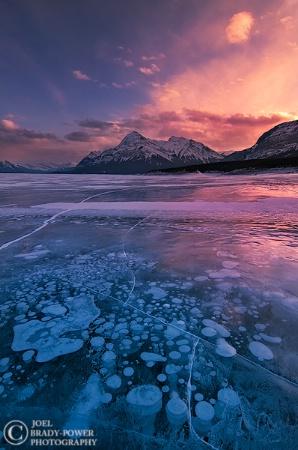 Abraham Lake Sunset