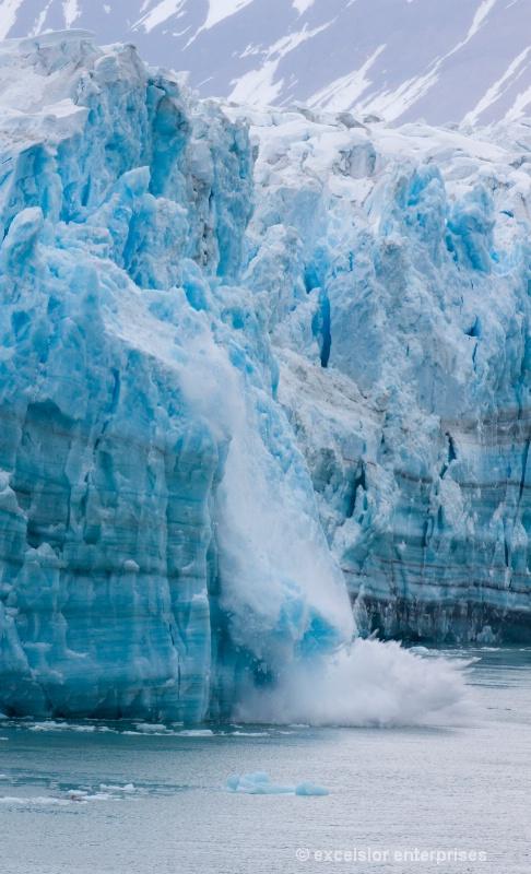 Hubbard Glacier Carving, Alaska