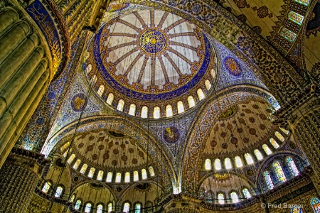 Dome of the Blue Mosque, Istanbul, Turkey