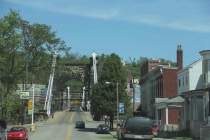 2. approaching the wheeling suspension bridge