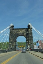 3. driving on the wheeling suspension bridge