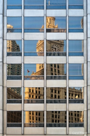Wrigley Building Reflections
