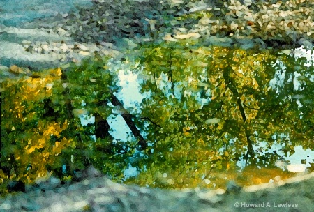 fall puddle reflection 03 drybrush