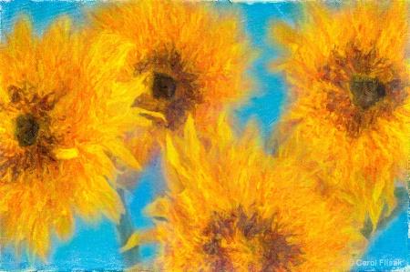 Artistic Sunflowers