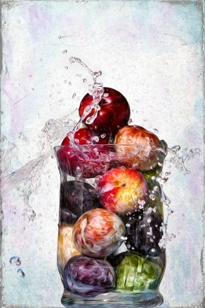 Painterly Fruit Splash