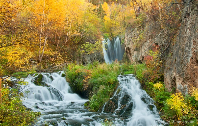 Roughlock Falls in Autumn splendor - ID: 13166696 © Deborah H. Zimmerman