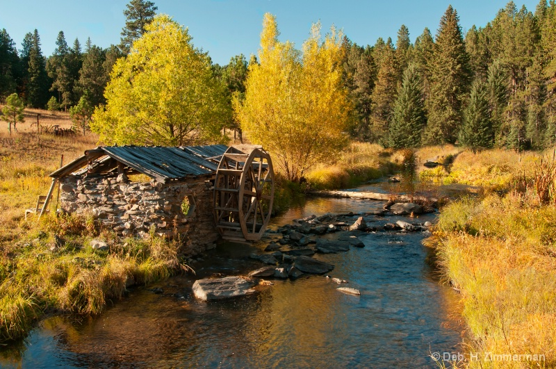 Old Water Wheel in Oct - ID: 13167461 © Deborah H. Zimmerman