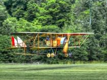 Caudron G.III In Flight