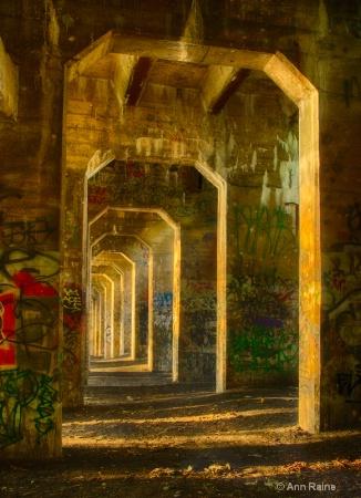 Columns of Graffiti - Coal Pier #18