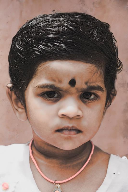 Little India Girl Altered