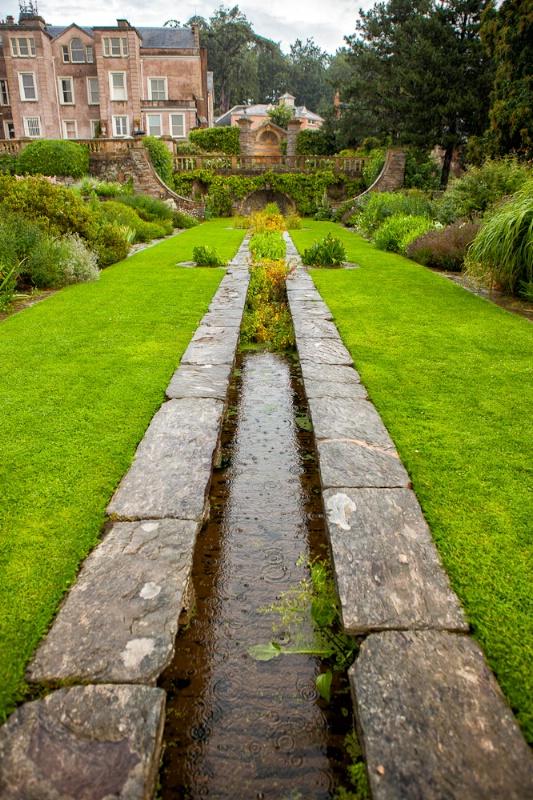 Hestercombe Garden Rill in the Rain