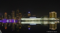Downtown Tampa's Skyline at Night