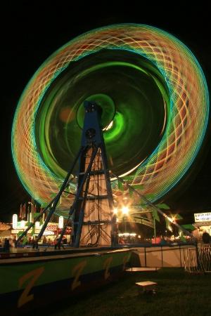 colorful fair ride