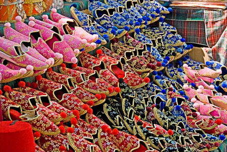 Slippers-bazaar in Istanbul !
