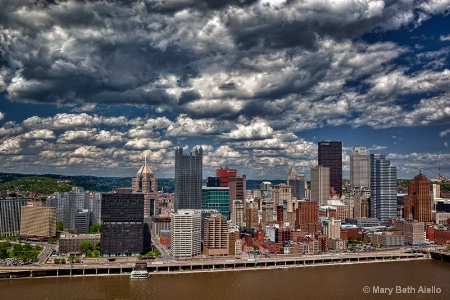 Pittsburgh Under Clouds