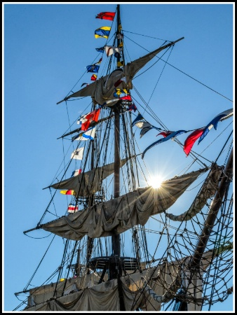 Sunrise on the tall ship