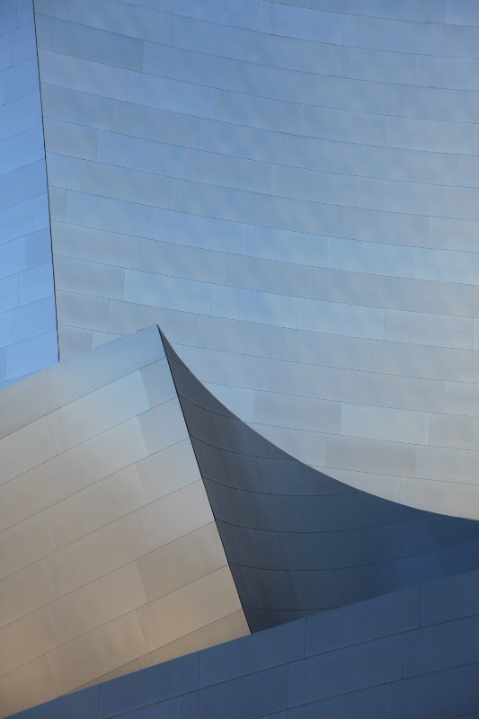 Disney Concert Hall detail, straight from camera
