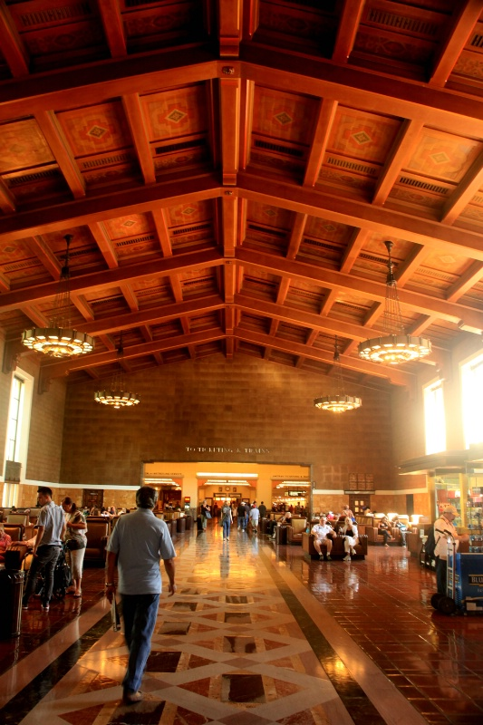 People at Union Station, L.A.