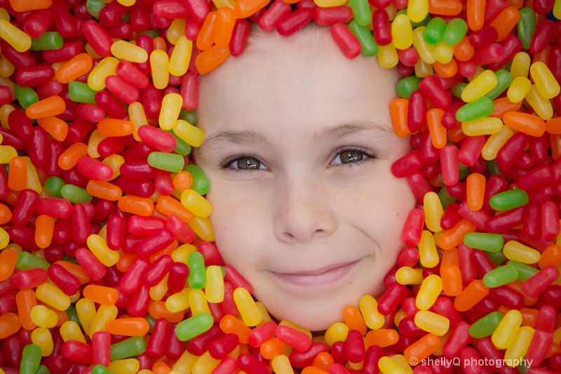 All the candy a boy could dream of