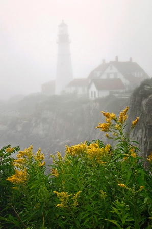 Portland Headlight in Fog