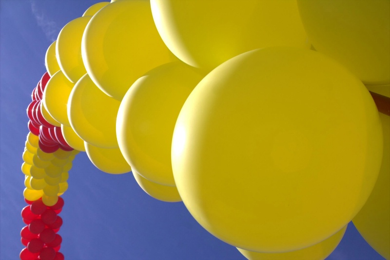 big bright balloons