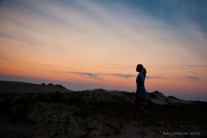 Girl on Dand Dunes