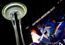 Billboard Near Space Needle Seattle