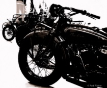 Old motorbikes abstract