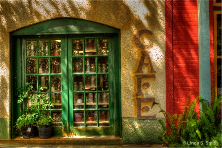green doors & bottles