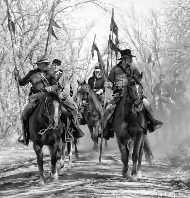 civil war battle re-enactment 120 pe black and whi