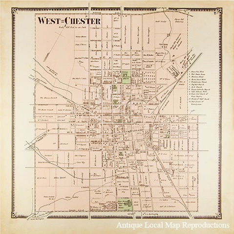 West Chester PA - Whitmer Map Reproduction - ID: 13393122 © Timlyn w. Vaughan