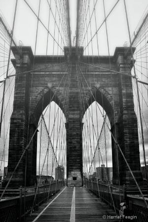 Brooklyn Bridge With Fog