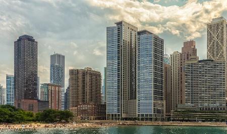 Chicago -- Summer View at Ohio St. Beach