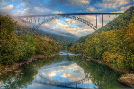 New River Bridge Reflection