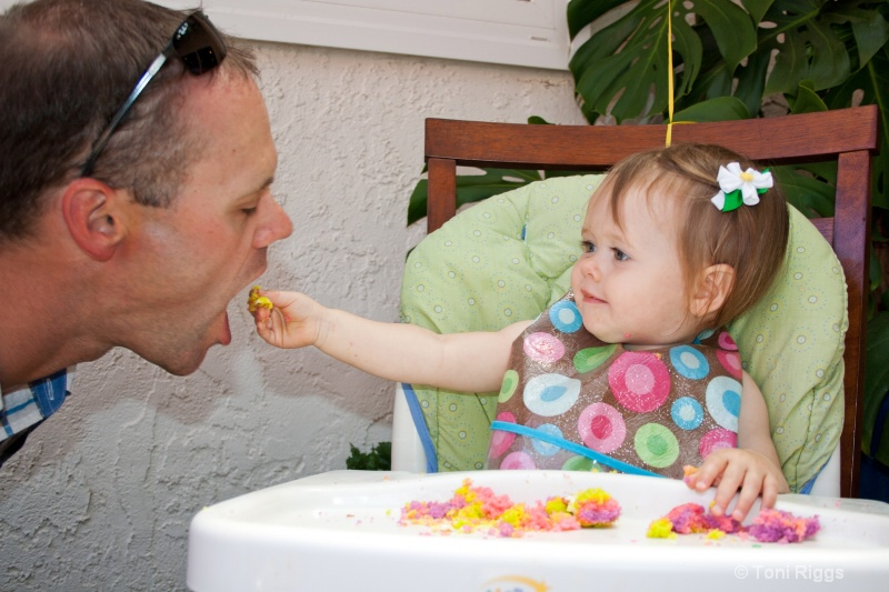 Sharing with Daddy