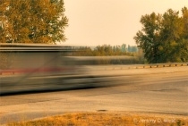 Blur of 2 Vehicles