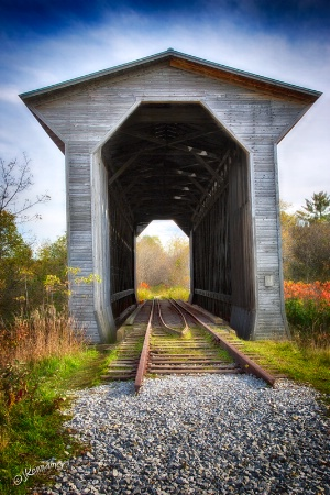 Covered Bridge - For Trains Only!