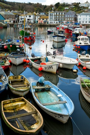 Boats at Mevagissey Harbour, Cornwall
