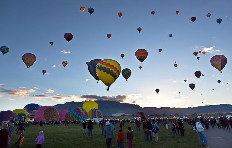 Balloon Rise Sunrise - ID: 13561052 © Patricia A. Casey