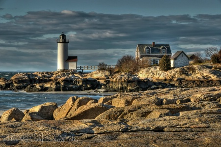 Annisquam Lighthouse From The Rocks