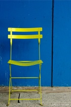 Yellow Chair, Blue Wall