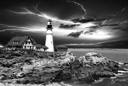 Storm @ Portlandhead light,ME