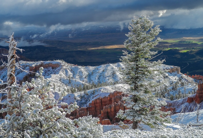 First Snow at Bryce Canyon