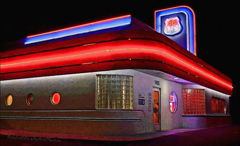 Route 66 Diner - ID: 13604201 © JudyAnn Rector