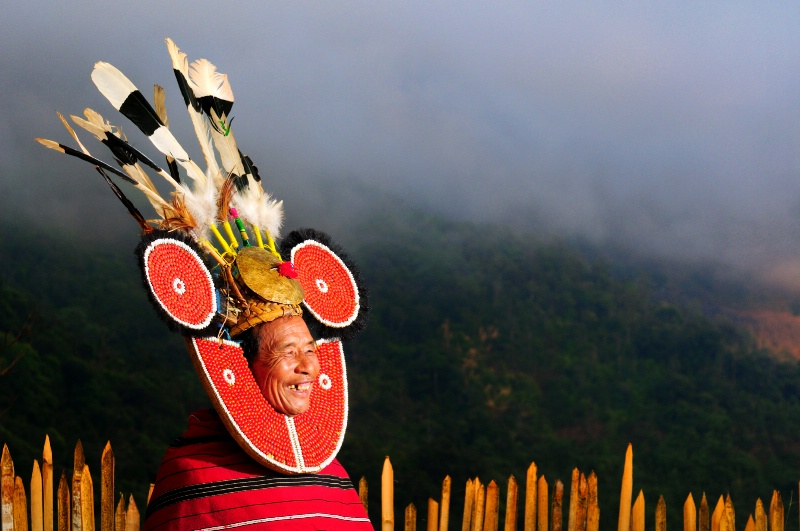 Naga Ethnic Leader on Naga Mountain