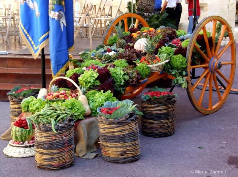Vegetable show at San Anton Gardens, Malta