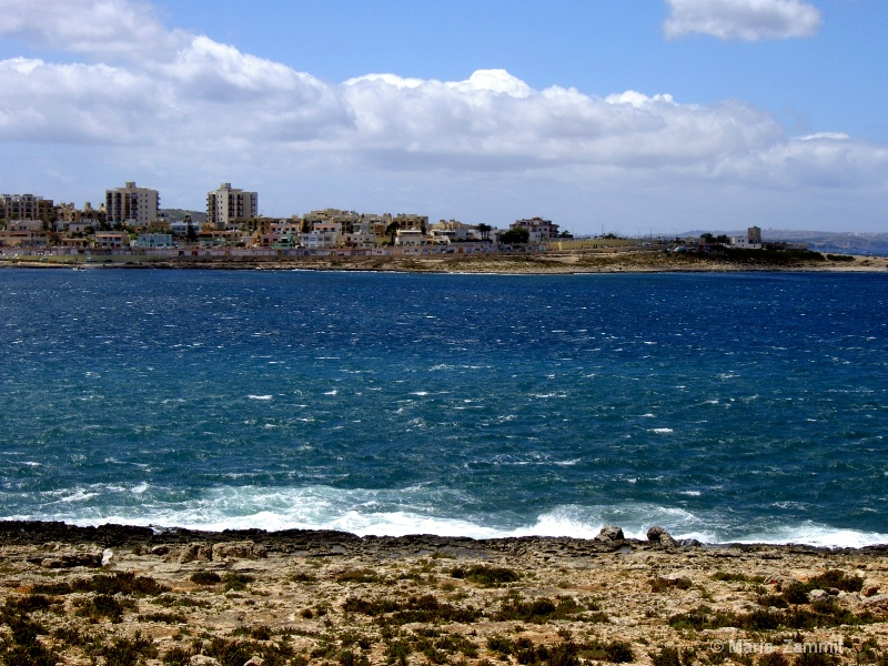 View of Qawra, Malta