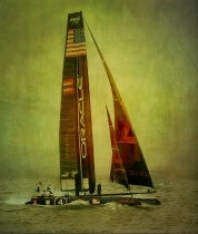 Team Oracle_Spithill_Sailing in the Fog on S.F. B