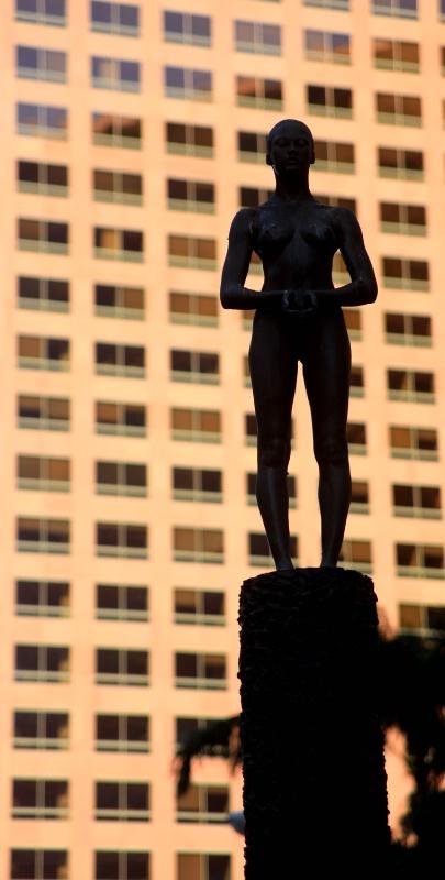 Statue silhouette, Los Angeles